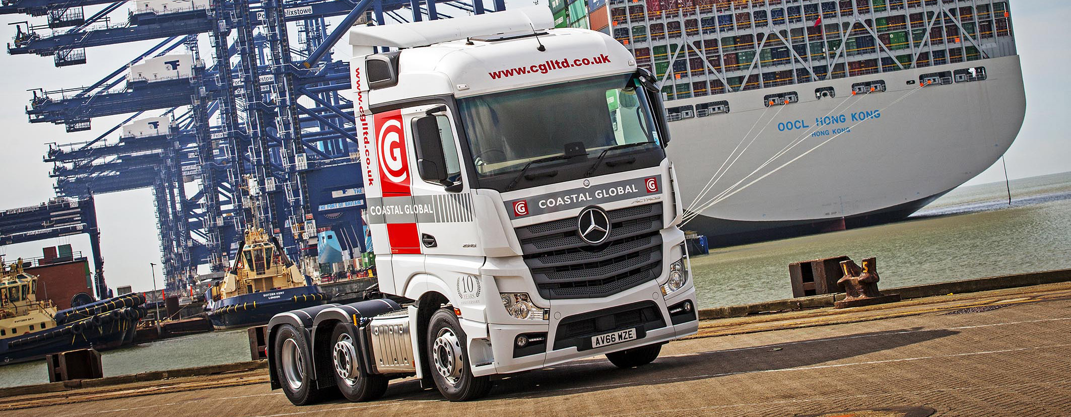 CGS Truck at Felixstowe Port